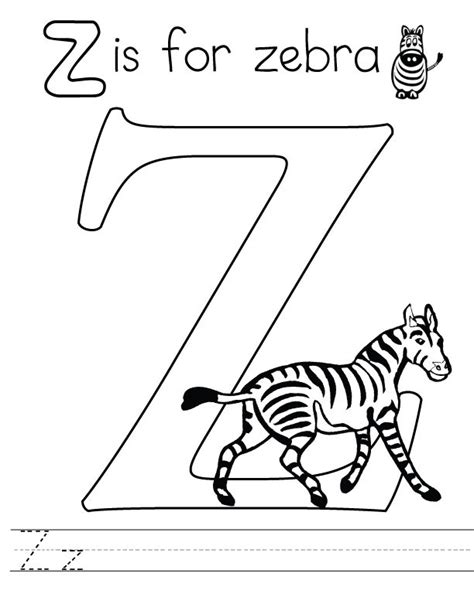 Z Coloring Pages Printable by Letter Z Coloring Pages To And Print For Free