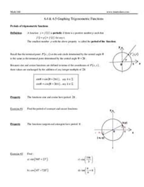 writing trig equations from graphs worksheet graphing trigonometric functions 9th 12th grade worksheet lesson planet