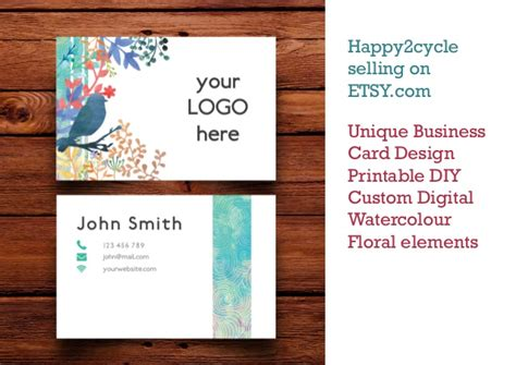 Etsy Business Cards Gallery Business Card Template Etsy Card Templates