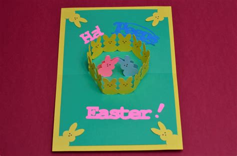 Pop Up Easter Card Template Free by Easter Pop Up Card Bunny Peeps Tutorial Creative Pop Up