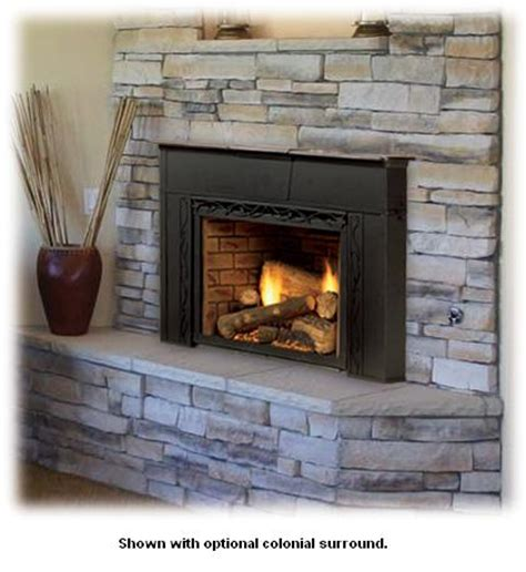 Propane Fireplace Insert Topaz Direct Vent Insert System With Tavern Brown