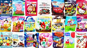 50 surprise blind bags angry birds lego disney peppa pig disney infinity cars 2 kitty toys