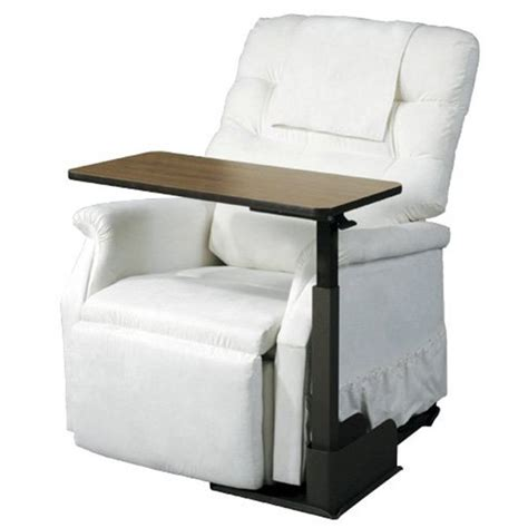 recliner table overbed table for lift chairs standard recliners or couches