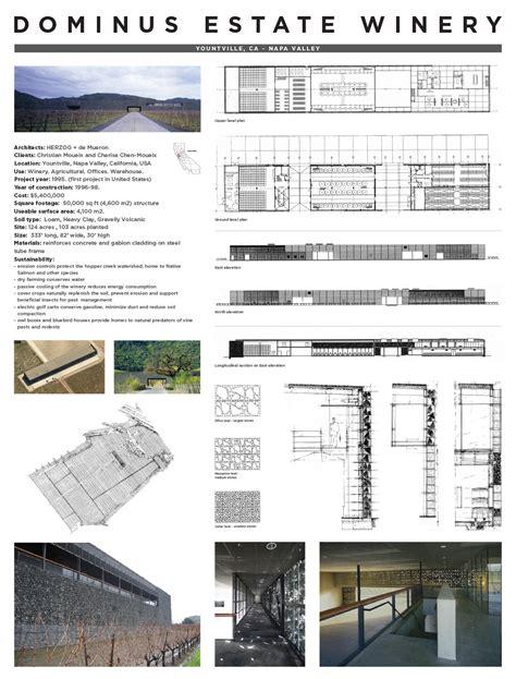 Visual Bookshelf Jeremy P Alford Dominus Winery Precedent Study Review