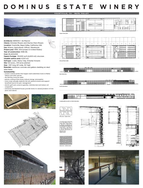 Example Of Floor Plan by Jeremy P Alford Dominus Winery Precedent Study Review