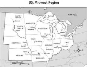 Midwest States And Capitals Blank Map by Us Midwest Region Map Galleryhip Com The Hippest