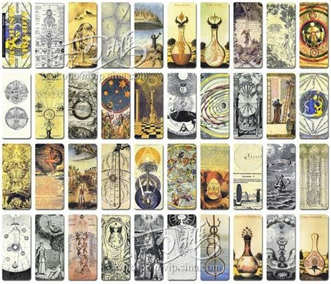 European Gift Cards - occultism and alchemy vintage bookmarks greeting cards gift cards vintage european