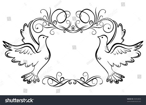 wedding frame stock vector 49454830 shutterstock