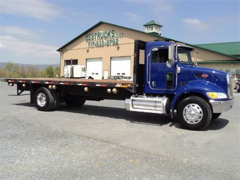flat bed for sale used 2007 peterbilt 335 flatbed truck for sale peterbilt