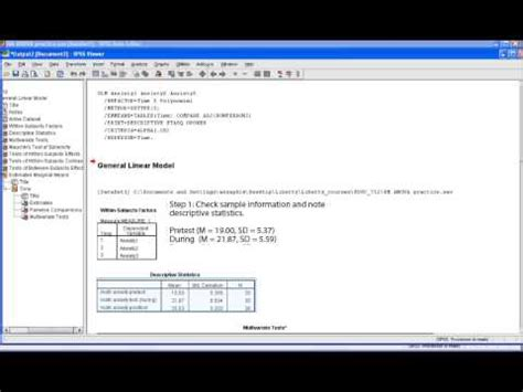 spss tutorial glm general linear group