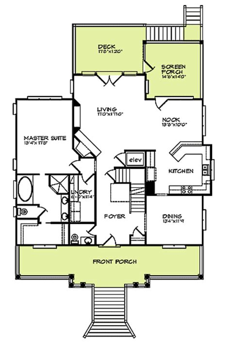 drive under house plans with elevator drive diy home plans raised beach house delight 15019nc 1st floor master