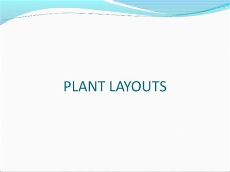 Layout Plant Ppt | plant layout ppt by me
