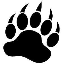 black bear paws clipart best