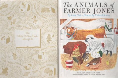 richard scarry s the animals of farmer jones golden board book books kathleenw deady children s author golden books