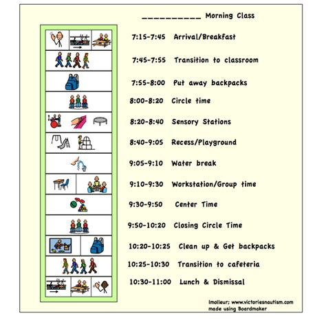 printable visual schedule pictures free download visual schedule charts schedules