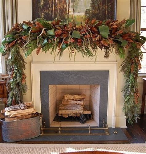mantelpiece garlands decor mantel garland decor