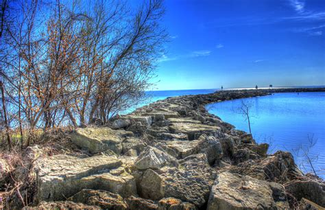 parks wi rockways into the parks at high cliff state park wisconsin image free stock photo