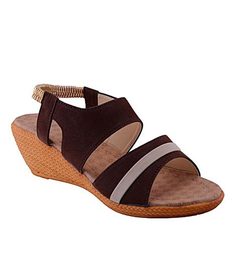 brown heeled sandals fabme brown heeled sandals price in india buy fabme brown
