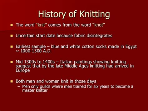history of knitting history of knitting