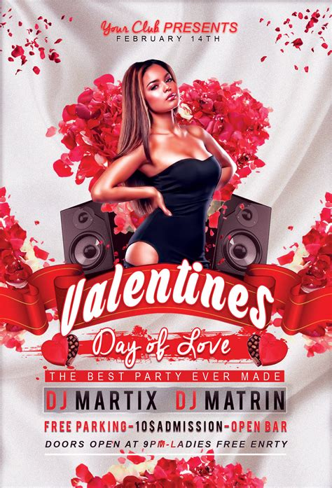 free valentines day flyer templates s day flyer v2 free psd template by klarensm