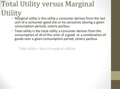 total utility vs marginal utility utility theory microeco