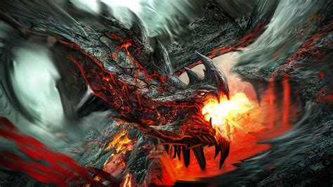 fire dragon   background  cool wallpapers