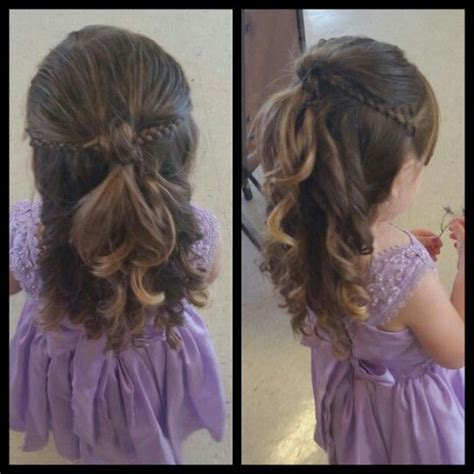 Hairstyles For Toddlers With Hair by Best 25 Toddler Wedding Hair Ideas On