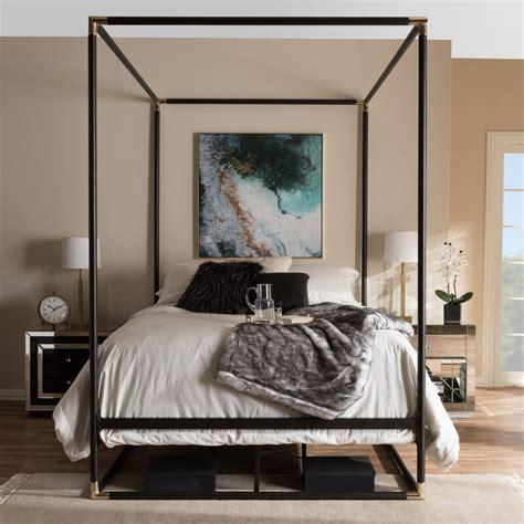 wholesale interiors baxton studio maria queen canopy bed