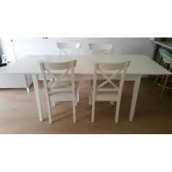 table blanche extensible avec 4 chaises ikea achat et vente