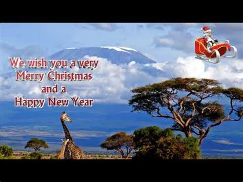 christmas card santa  africa     merry christmas youtube