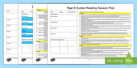 reading planning template year 5 guided reading planning template literacy language