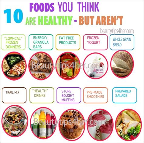 7 Foods You Thought Were Healthy But Arent by 10 Foods You Probably Think Are Healthy But Aren T