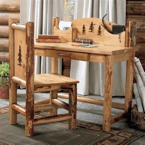 outdoor log furniture kentucky log bed from rocky top rocky mountain log desk chair