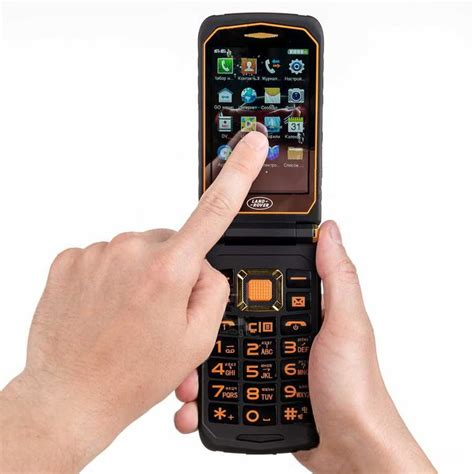 купить защищенный кнопочный телефон land rover x9 flip