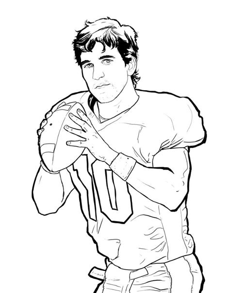 peyton manning coloring pages az coloring pages