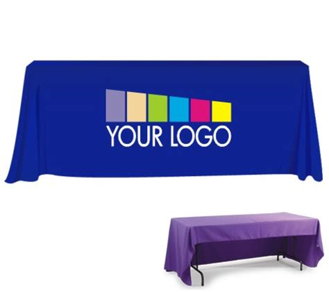 custom table cloth with logo custom printed table throw