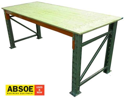 Pallet Rack Workbench by Pallet Racking Ply Board Top 2400mm Wide Workbench