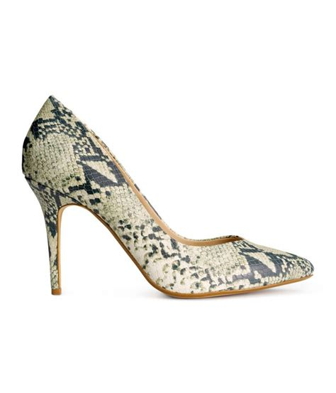 How To Buy Shoes Ae Get To These Safe Easy Steps by Premium Quality Pumps In Snakeskin Patterned Leather H