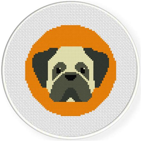 pug cross stitch charts club members only pug portrait cross stitch pattern daily cross stitch