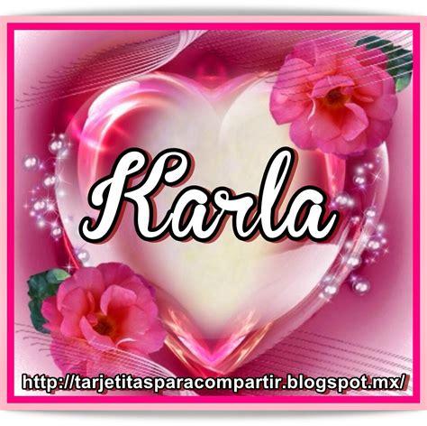 Imagenes De Amistad Karla | ღღtarjetitasღღ nombres en corazon rosa