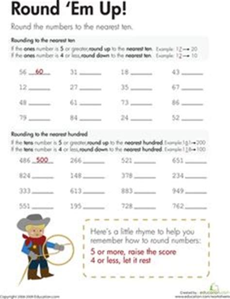 Using Rounding To Estimate Worksheets by Rounding And Estimation Worksheets To The Nearest 10