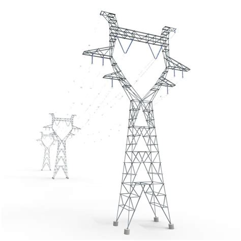 getting ready for d day power line modular powerlines 3d model game ready fbx ma mb