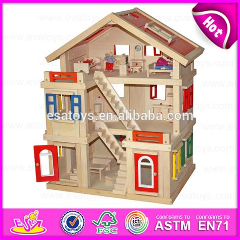 happy family doll house 2015 happy family doll house for kids diy toy wooden doll house toy for children best