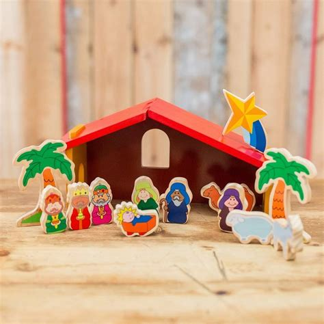 nativity children children s wooden nativity set by harmony at home children