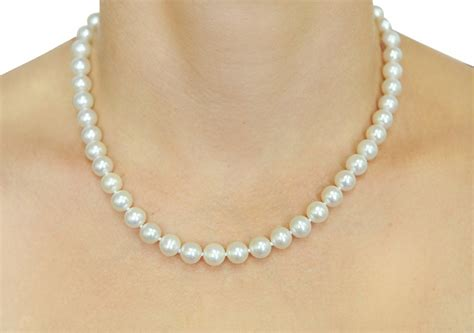 8 9mm white freshwater pearl necklace aaaa quality