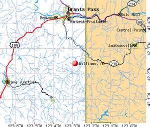williams oregon or 97544 profile population maps