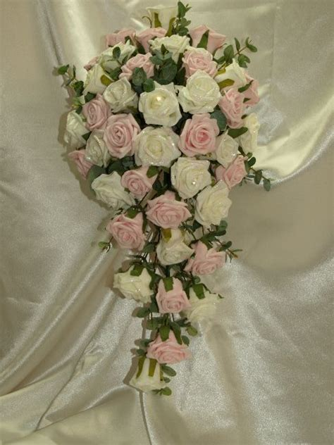 Wedding Bouquet Teardrop by Ivory Roses Pink Peonies Teardrop Bouquet Wedding Ideas