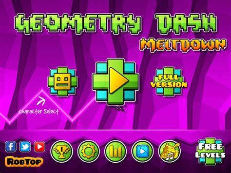 telecharger geometry dash full version apk t 233 l 233 charger le jeu g 233 om 233 trie dash meltdown 1 01 pour android