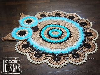 crochet owl rug pattern free ravelry retro owl rug or doily rug nursery mat pattern by ira rott