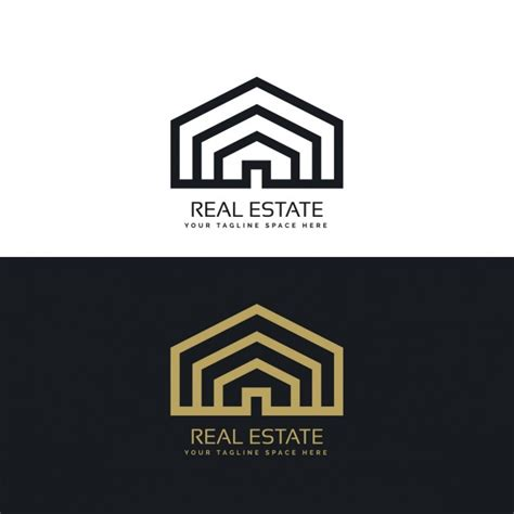 Logo Gold Black black and gold house logo vector free